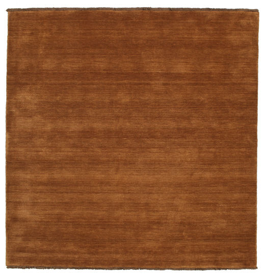 ハンドルーム Fringes - 茶 絨毯 250X250 モダン 正方形 茶/濃い茶色 大きな (ウール, インド)