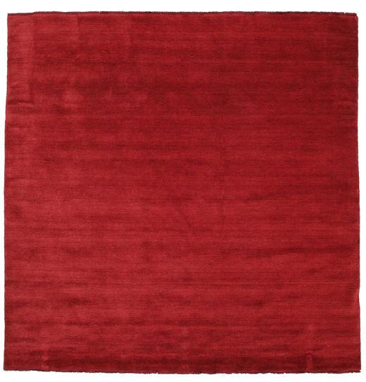 ハンドルーム Fringes - 深紅色の 絨毯 250X250 モダン 正方形 赤 大きな (ウール, インド)