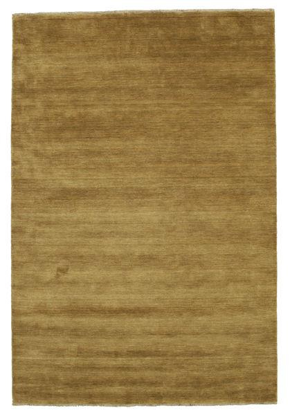 ハンドルーム Fringes - オリーブグリーン 絨毯 200X300 モダン 茶/オリーブ色 (ウール, インド)