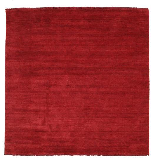 ハンドルーム Fringes - 深紅色の 絨毯 200X200 モダン 正方形 赤 (ウール, インド)