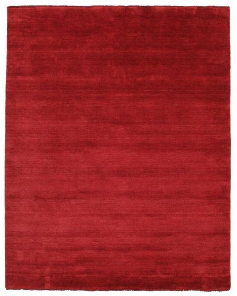 ハンドルーム Fringes - 深紅色の 絨毯 200X250 モダン 赤 (ウール, インド)