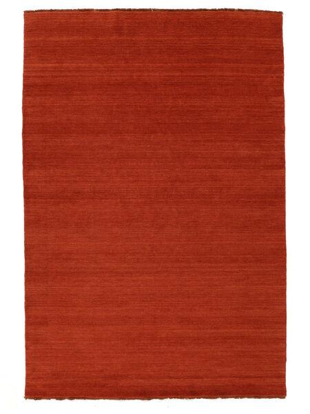 ハンドルーム Fringes - 錆色/赤 絨毯 160X230 モダン 錆色/オレンジ (ウール, インド)