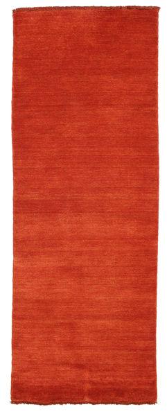 ハンドルーム Fringes - 錆色/赤 絨毯 80X200 モダン 廊下 カーペット 錆色 (ウール, インド)