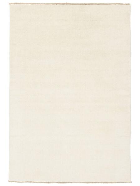 ハンドルーム Fringes - 薄い 絨毯 160X230 モダン ベージュ (ウール, インド)