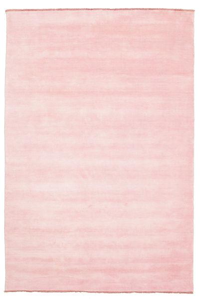 ハンドルーム Fringes - ピンク 絨毯 200X300 モダン ライトピンク (ウール, インド)