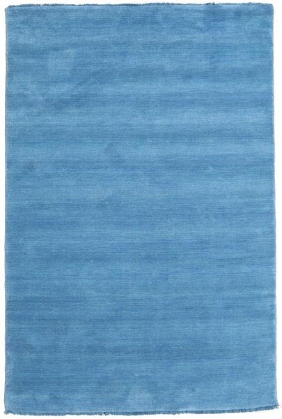 ハンドルーム Fringes - 水色 絨毯 120X180 モダン 水色/青 (ウール, インド)