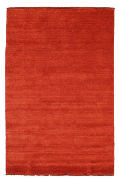 ハンドルーム Fringes - 錆色/赤 絨毯 120X180 モダン 錆色 (ウール, インド)
