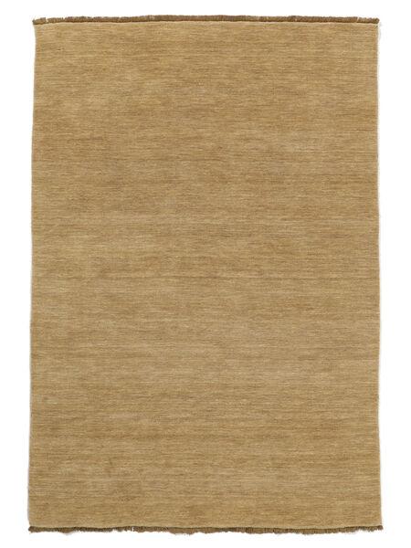 ハンドルーム Fringes - ベージュ 絨毯 140X200 モダン 暗めのベージュ色の/薄茶色 (ウール, インド)