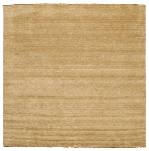 ハンドルーム Fringes - ベージュ 絨毯 300X300 モダン 正方形 暗めのベージュ色の/薄茶色 大きな (ウール, インド)