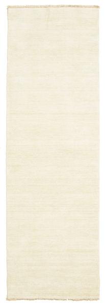 ハンドルーム Fringes - 薄い 絨毯 80X250 モダン 廊下 カーペット ベージュ (ウール, インド)