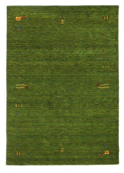 ギャッベ ルーム Frame - グリーン 絨毯 140X200 モダン 深緑色の (ウール, インド)