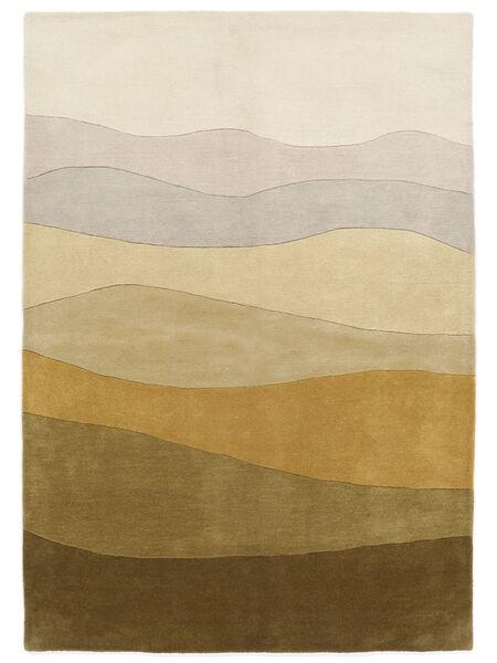 Feeling Handtufted - 茶 絨毯 160X230 モダン 暗めのベージュ色の/オリーブ色 (ウール, インド)
