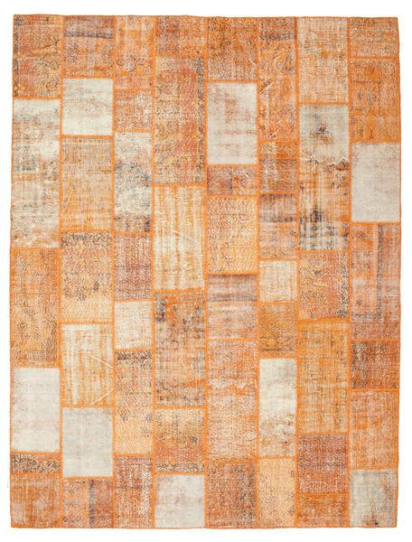 パッチワーク 絨毯 301X399 モダン 手織り 薄茶色/ライトピンク 大きな (ウール, トルコ)
