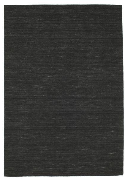 キリム ルーム - 黒 絨毯 160X230 モダン 手織り 黒 (ウール, インド)