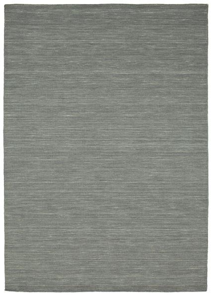 キリム ルーム - 濃いグレー 絨毯 160X230 モダン 手織り 薄い灰色/深緑色の (ウール, インド)