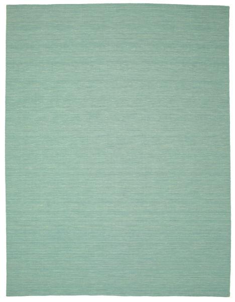 キリム ルーム - Mint グリーン 絨毯 300X400 モダン 手織り パステルグリーン/ターコイズブルー 大きな (ウール, インド)