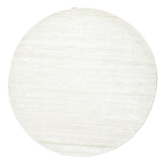 Bamboo シルク ルーム - 薄い ナチュラル 絨毯 Ø 200 モダン ラウンド ベージュ ( インド)