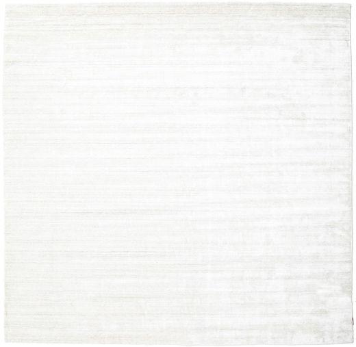 Bamboo シルク ルーム - 薄い ナチュラル 絨毯 300X300 モダン 正方形 ベージュ/ホワイト/クリーム色 大きな ( インド)