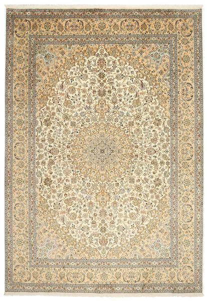 カシミール ピュア シルク 絨毯 217X315 オリエンタル 手織り 暗めのベージュ色の/薄茶色 (絹, インド)