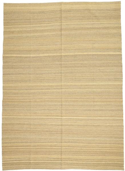 キリム モダン 絨毯 204X286 モダン 手織り 暗めのベージュ色の/ベージュ (ウール, アフガニスタン)
