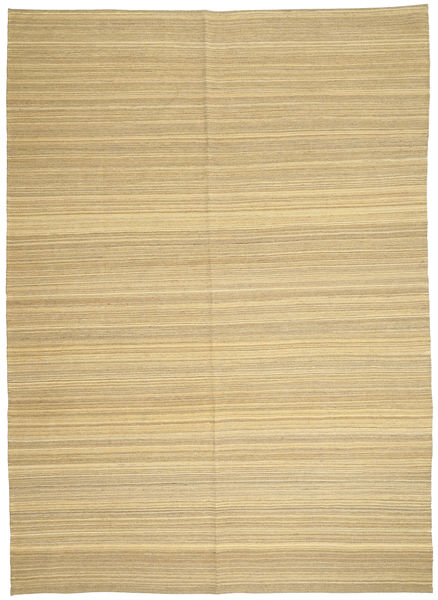 キリム モダン 絨毯 206X287 モダン 手織り 暗めのベージュ色の/ベージュ (ウール, アフガニスタン)