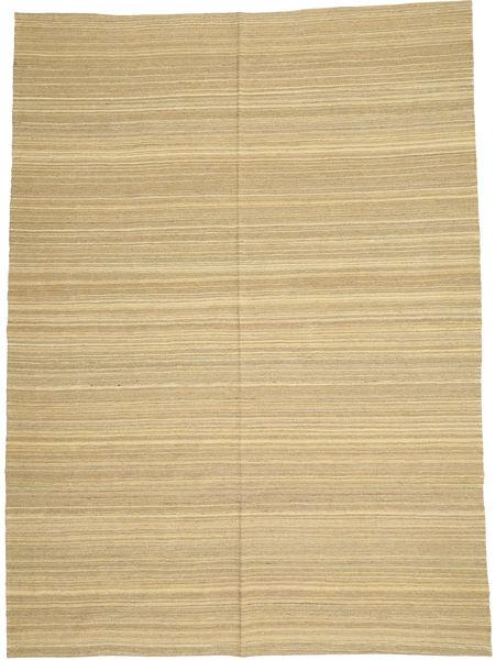 キリム モダン 絨毯 205X280 モダン 手織り 暗めのベージュ色の/ライトグリーン/ベージュ (ウール, アフガニスタン)