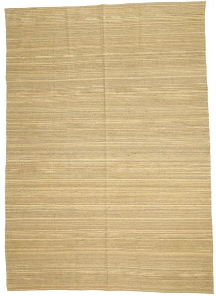 キリム モダン 絨毯 204X284 モダン 手織り 暗めのベージュ色の/ベージュ (ウール, アフガニスタン)