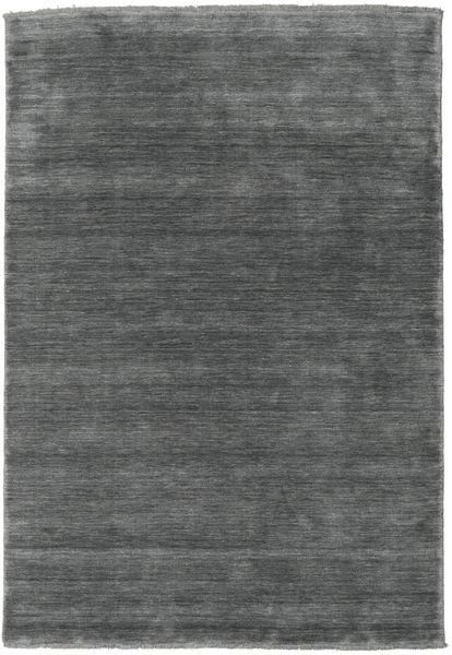ハンドルーム Fringes - 濃いグレー 絨毯 160X230 モダン 濃いグレー (ウール, インド)