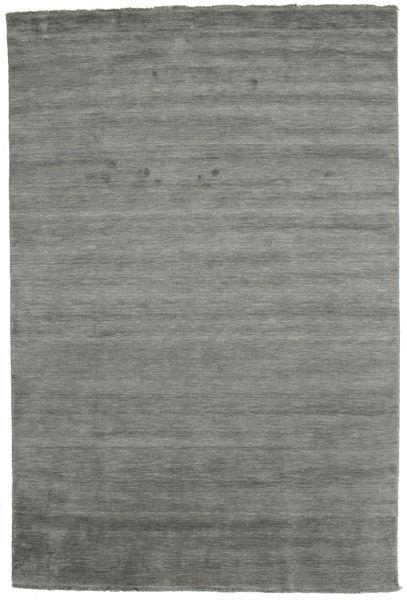 ハンドルーム Fringes - 濃いグレー 絨毯 200X300 モダン 濃いグレー (ウール, インド)