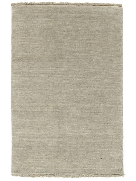 ハンドルーム Fringes - グレー/薄緑色 絨毯 160X230 モダン 薄茶色/薄い灰色 (ウール, インド)