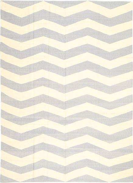 キリム モダン 絨毯 210X288 モダン 手織り 薄い灰色/ベージュ (ウール, アフガニスタン)