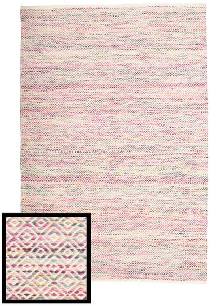 Hugo - Multi ピンク 絨毯 140X200 モダン 手織り ライトピンク/薄い灰色 ( インド)