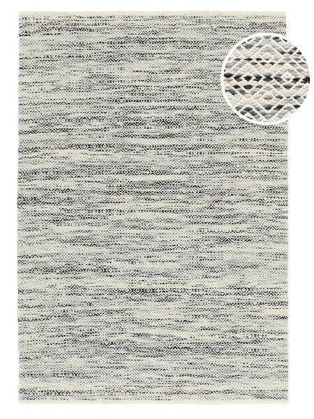 Hugo - 黒/グレー 絨毯 140X200 モダン 手織り 薄い灰色/暗めのベージュ色の ( インド)