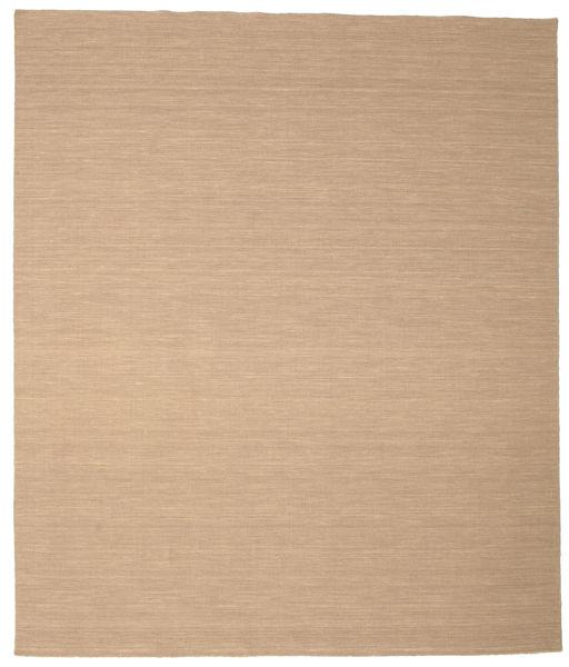 キリム ルーム - ベージュ 絨毯 250X300 モダン 手織り 薄茶色/暗めのベージュ色の/ベージュ 大きな (ウール, インド)