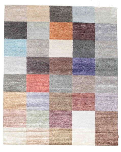 Himalaya 絨毯 247X305 モダン 手織り 薄い灰色/ライトピンク ( インド)