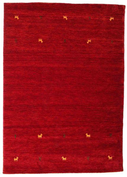 ギャッベ ルーム Two Lines - 赤 絨毯 160X230 モダン 赤/深紅色の (ウール, インド)