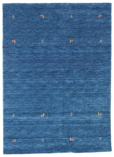 ギャッベ ルーム Two Lines - 青 絨毯 160X230 モダン 紺色の/青 (ウール, インド)