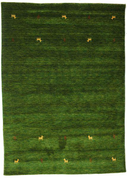 ギャッベ ルーム Two Lines - グリーン 絨毯 160X230 モダン 深緑色の (ウール, インド)