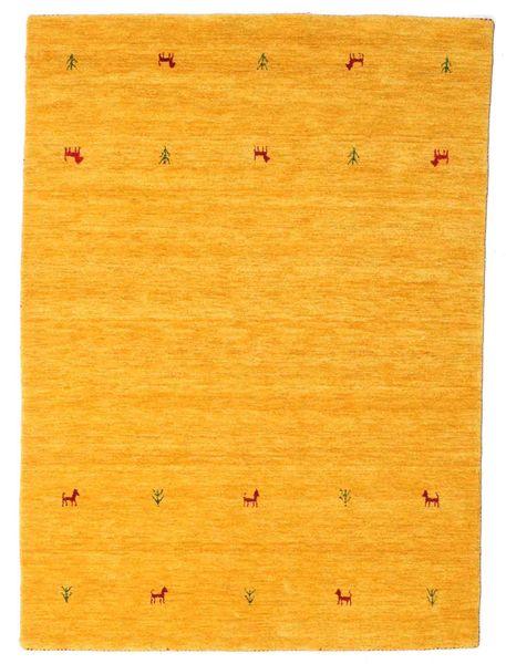 ギャッベ ルーム Two Lines - 黄色 絨毯 140X200 モダン 黄色/オレンジ (ウール, インド)