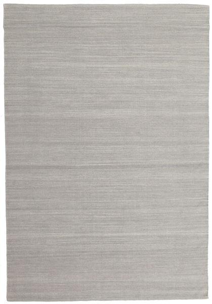 キリム ルーム - グレー 絨毯 160X230 モダン 手織り 薄い灰色 (ウール, インド)