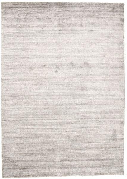 Bamboo シルク ルーム - Warm グレー 絨毯 160X230 モダン 薄い灰色/ホワイト/クリーム色 ( インド)