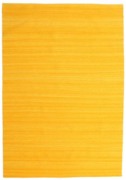 キリム ルーム - 黄色 絨毯 160X230 モダン 手織り オレンジ (ウール, インド)
