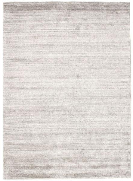 Bamboo シルク ルーム - Warm グレー 絨毯 140X200 モダン 薄い灰色 ( インド)