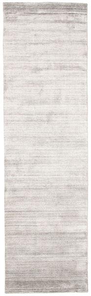 Bamboo シルク ルーム - Warm グレー 絨毯 80X300 モダン 廊下 カーペット 薄い灰色/ホワイト/クリーム色 ( インド)