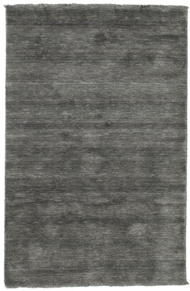 ハンドルーム Fringes - 濃いグレー 絨毯 120X180 モダン 濃いグレー (ウール, インド)