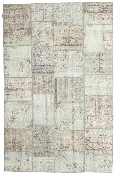 パッチワーク 絨毯 196X302 モダン 手織り 薄い灰色/ベージュ (ウール, トルコ)