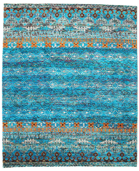 Quito - ターコイズ 絨毯 240X290 モダン 手織り ターコイズブルー/青 (絹, インド)