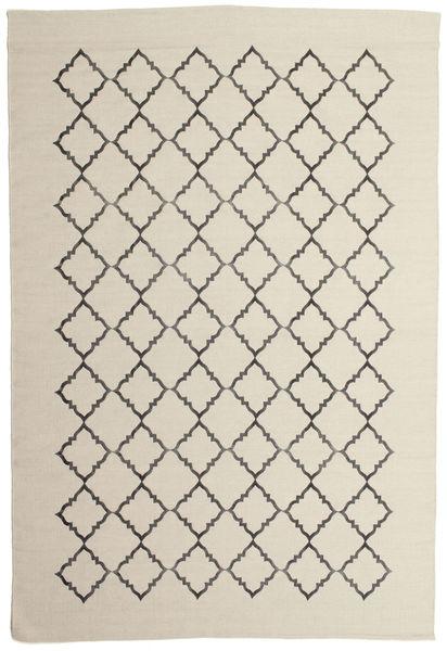 Marjorie - オフホワイト 絨毯 200X300 モダン 手織り 暗めのベージュ色の/薄い灰色/ベージュ (ウール, インド)