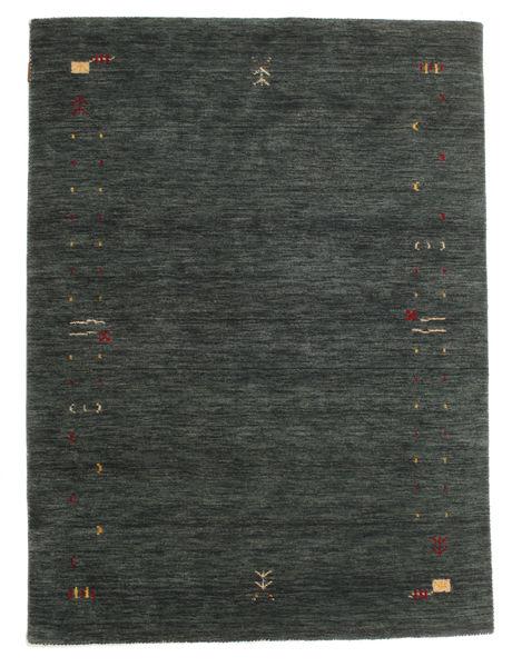 ギャッベ ルーム Frame - 濃いグレー/グリーン 絨毯 140X200 モダン 深緑色の/深緑色の (ウール, インド)