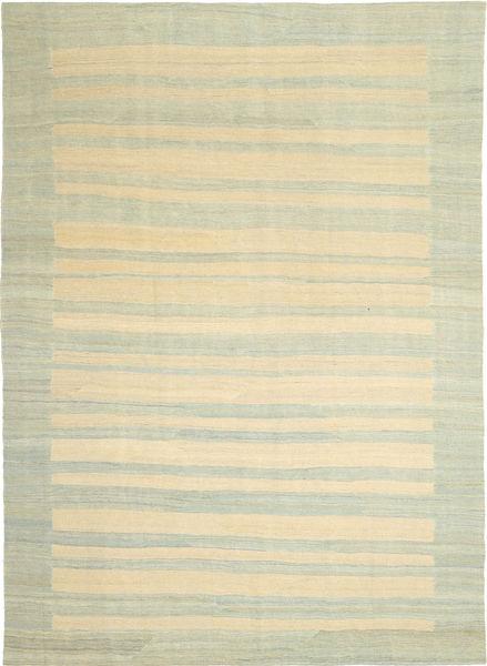 キリム モダン 絨毯 209X295 モダン 手織り 暗めのベージュ色の/ベージュ (ウール, ペルシャ/イラン)